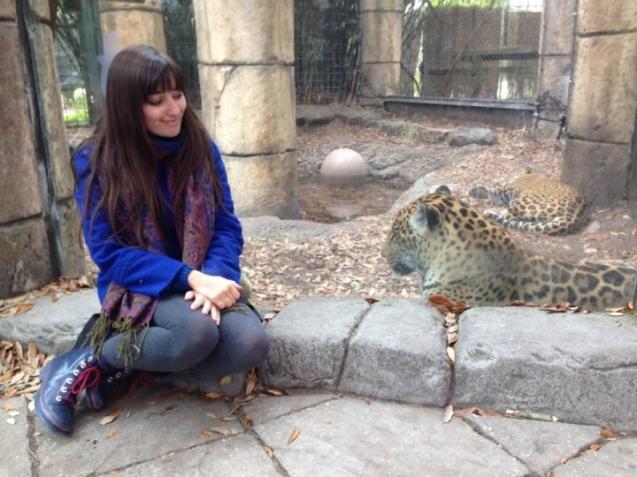 Lauren at zoo