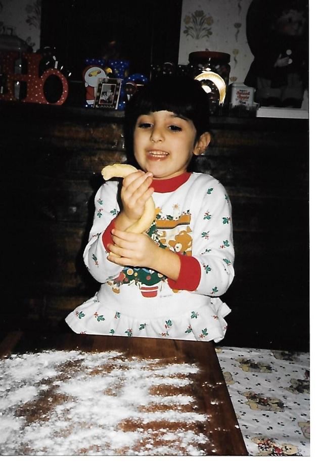 Lauren making struffoli